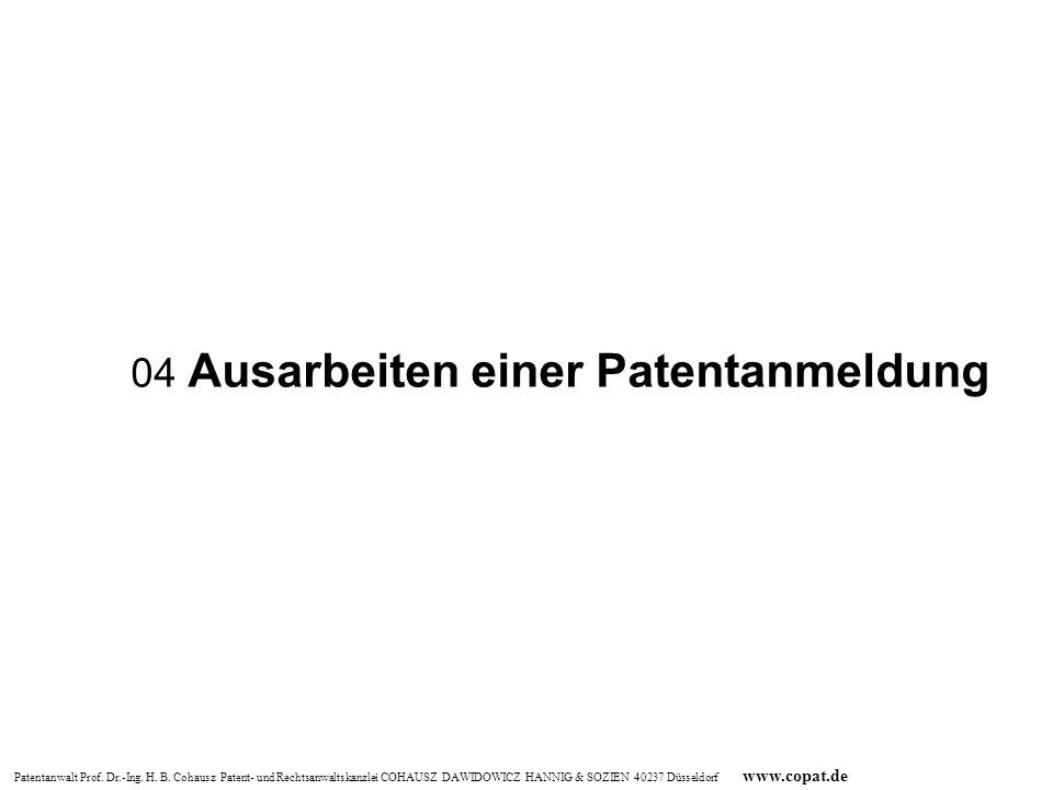 04 Ausarbeiten einer Patentanmeldung
