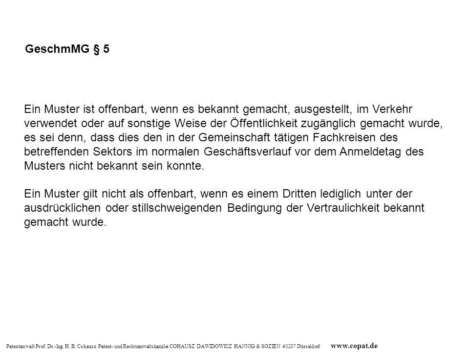 GeschmMG § 5