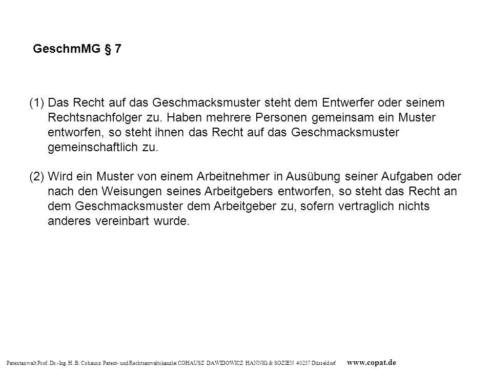 GeschmMG § 7