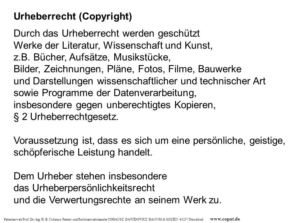 Urheberrecht (Copyright)