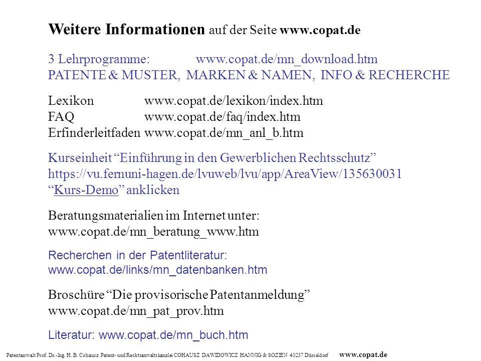 Weitere Informationen auf der Seite www.copat.de