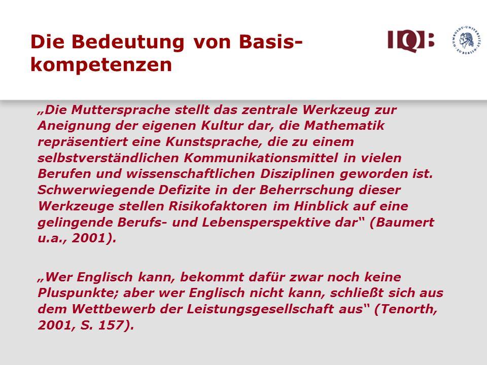 Die Bedeutung von Basis- kompetenzen
