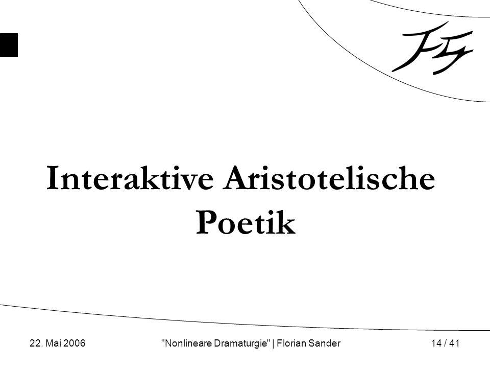 Interaktive Aristotelische Poetik