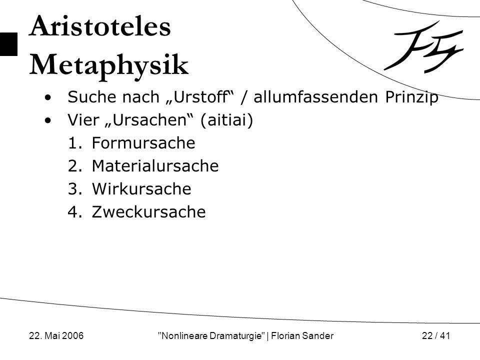 Aristoteles Metaphysik