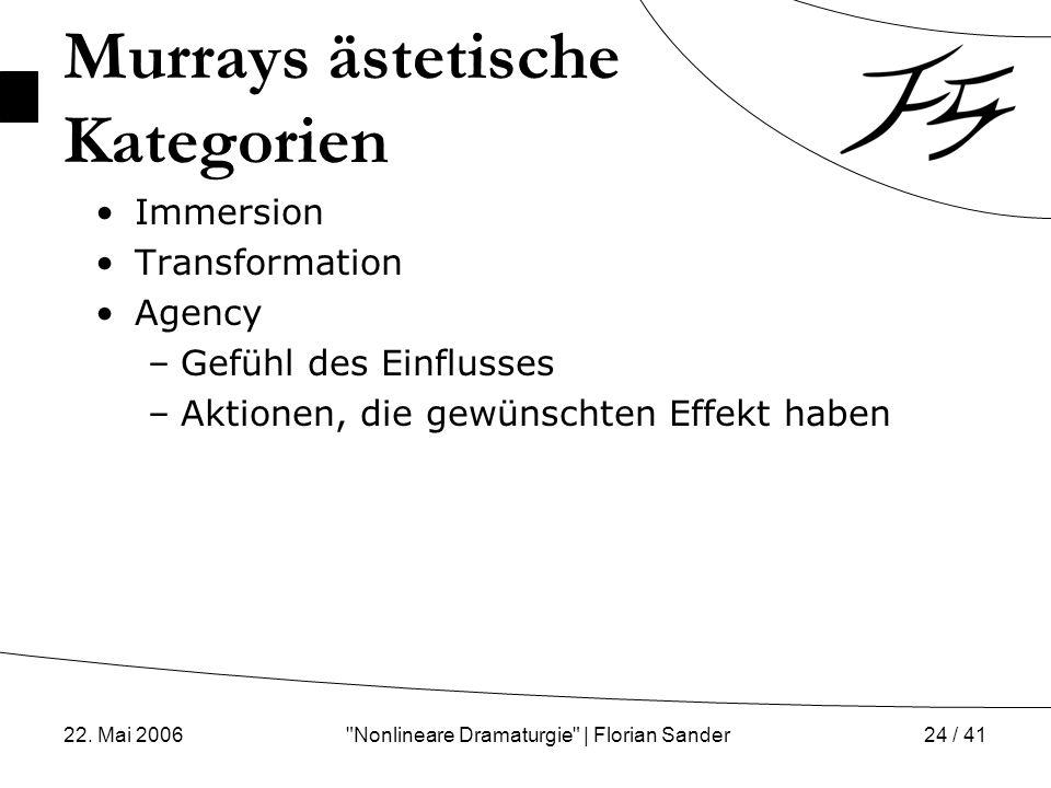 Murrays ästetische Kategorien