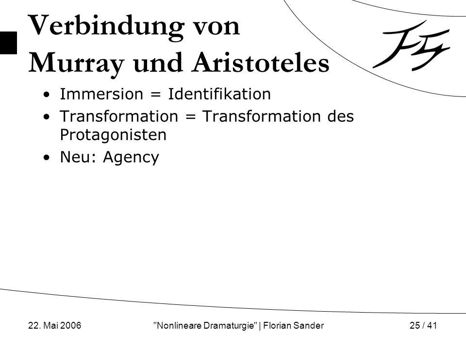 Verbindung von Murray und Aristoteles