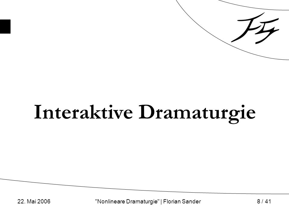 Nonlineare Dramaturgie | Florian Sander