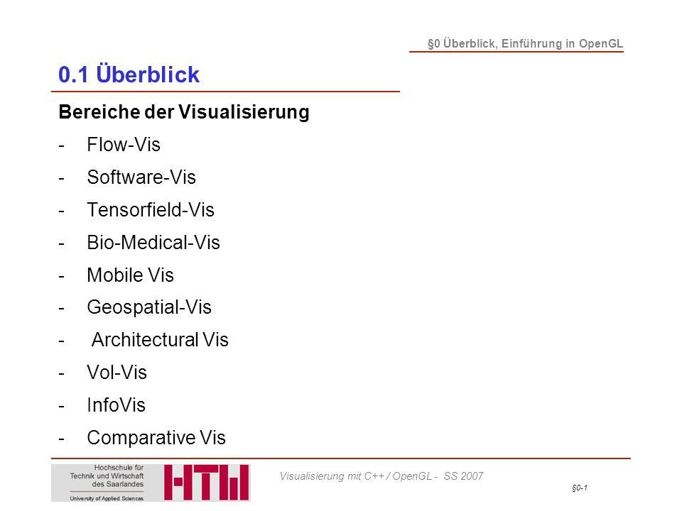 0.1 Überblick Bereiche der Visualisierung - Flow-Vis - Software-Vis