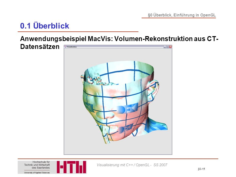 0.1 Überblick Anwendungsbeispiel MacVis: Volumen-Rekonstruktion aus CT-Datensätzen