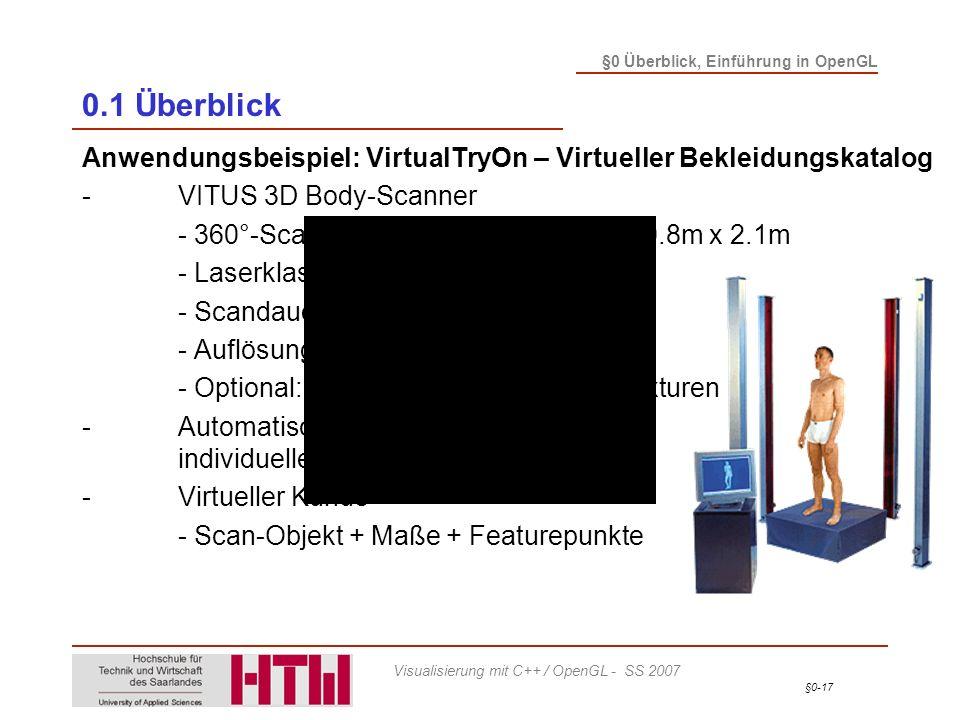 0.1 Überblick Anwendungsbeispiel: VirtualTryOn – Virtueller Bekleidungskatalog. - VITUS 3D Body-Scanner.