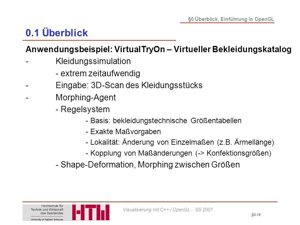 0.1 Überblick Anwendungsbeispiel: VirtualTryOn – Virtueller Bekleidungskatalog. - Kleidungssimulation.