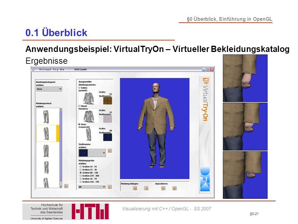 0.1 Überblick Anwendungsbeispiel: VirtualTryOn – Virtueller Bekleidungskatalog Ergebnisse