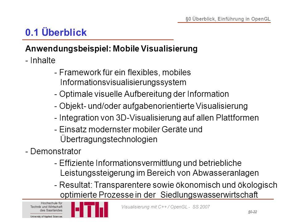 0.1 Überblick Anwendungsbeispiel: Mobile Visualisierung - Inhalte