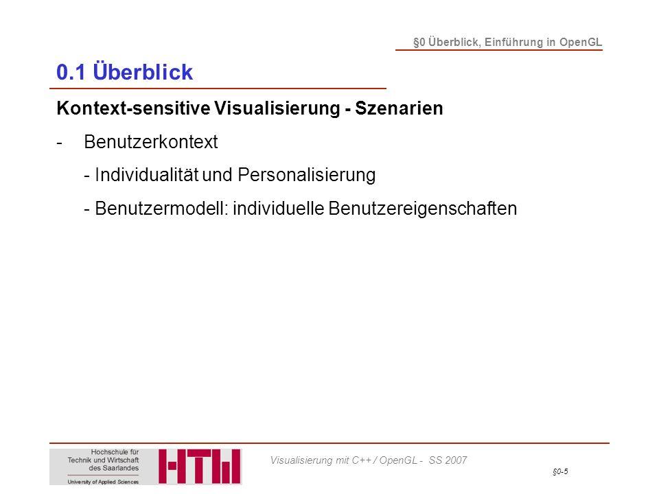 0.1 Überblick Kontext-sensitive Visualisierung - Szenarien