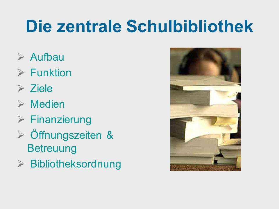 Die zentrale Schulbibliothek