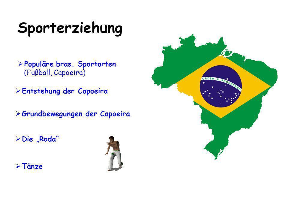 Sporterziehung Populäre bras. Sportarten (Fußball, Capoeira)