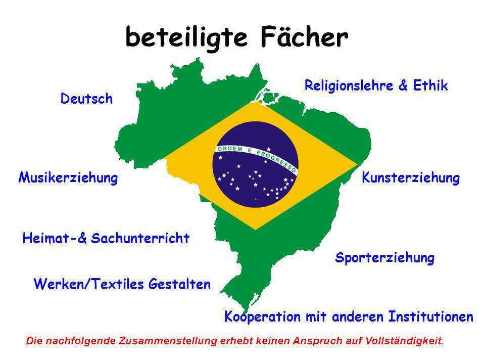 beteiligte Fächer Religionslehre & Ethik Deutsch Musikerziehung