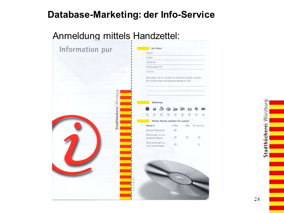 Database-Marketing: der Info-Service