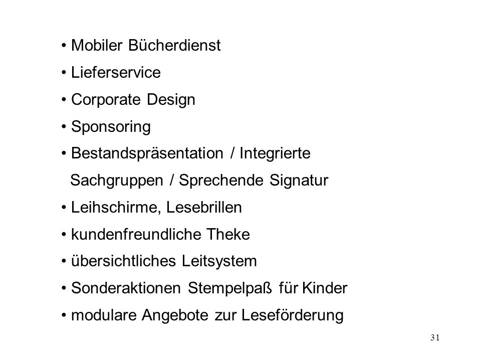 Mobiler Bücherdienst Lieferservice. Corporate Design. Sponsoring. Bestandspräsentation / Integrierte Sachgruppen / Sprechende Signatur.