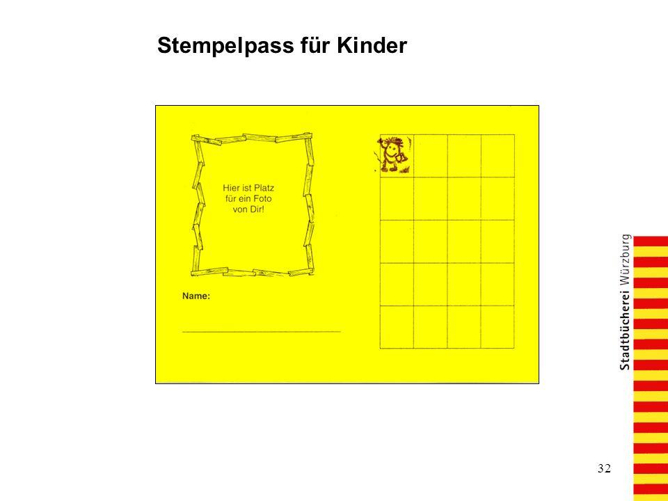 Stempelpass für Kinder
