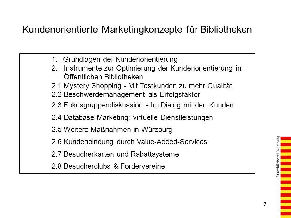 Kundenorientierte Marketingkonzepte für Bibliotheken