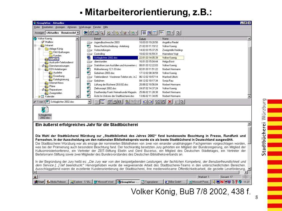 Mitarbeiterorientierung, z.B.:
