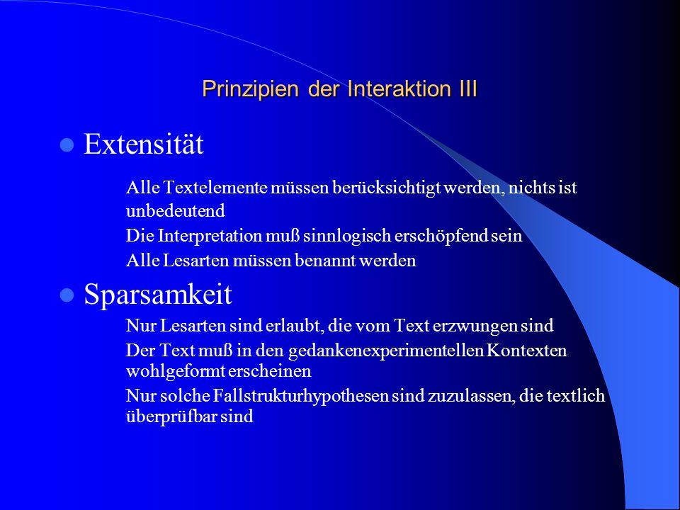 Prinzipien der Interaktion III
