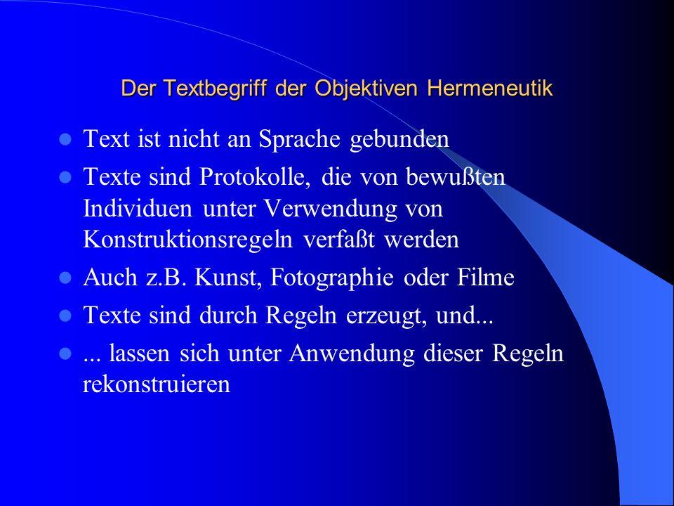 Der Textbegriff der Objektiven Hermeneutik