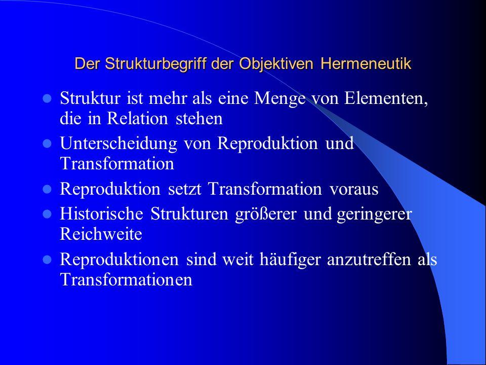 Der Strukturbegriff der Objektiven Hermeneutik