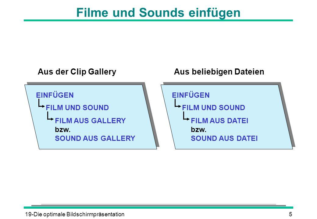 Filme und Sounds einfügen