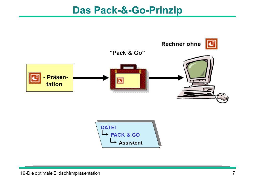 Das Pack-&-Go-Prinzip
