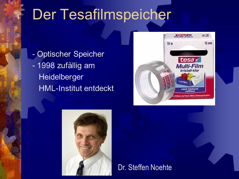 Der Tesafilmspeicher - Optischer Speicher - 1998 zufällig am