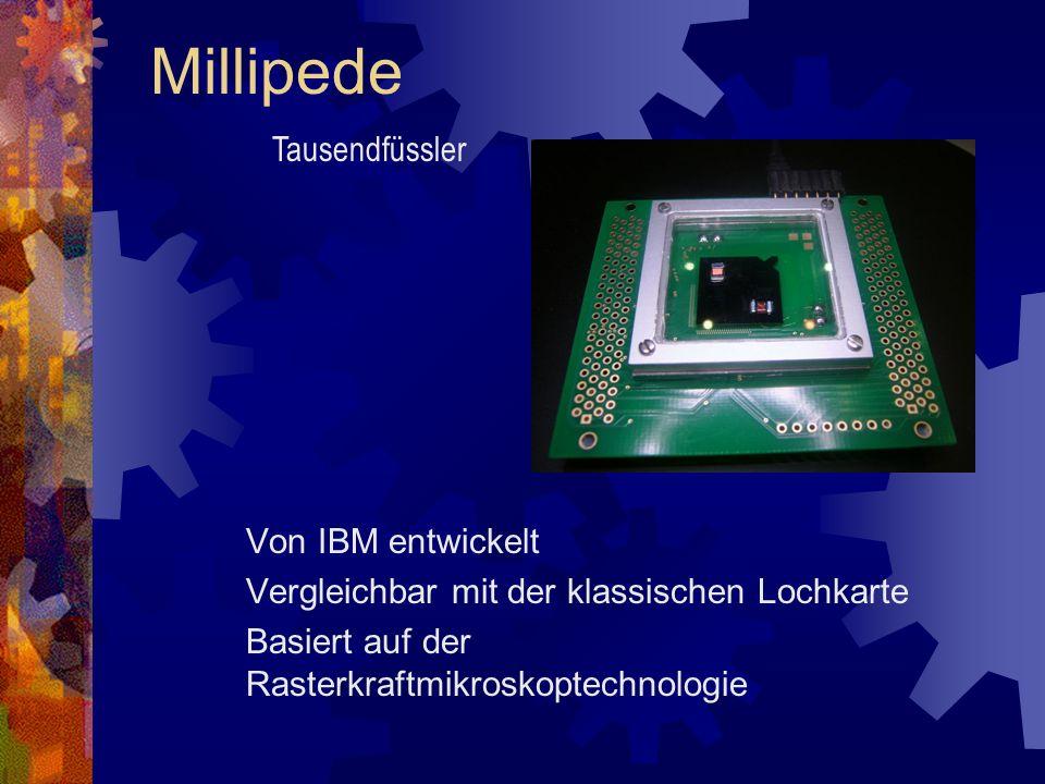 Millipede Tausendfüssler Von IBM entwickelt