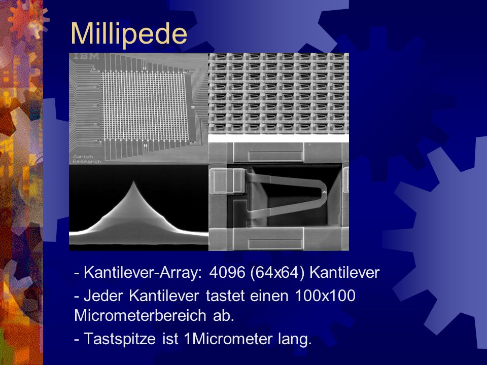 Millipede - Kantilever-Array: 4096 (64x64) Kantilever