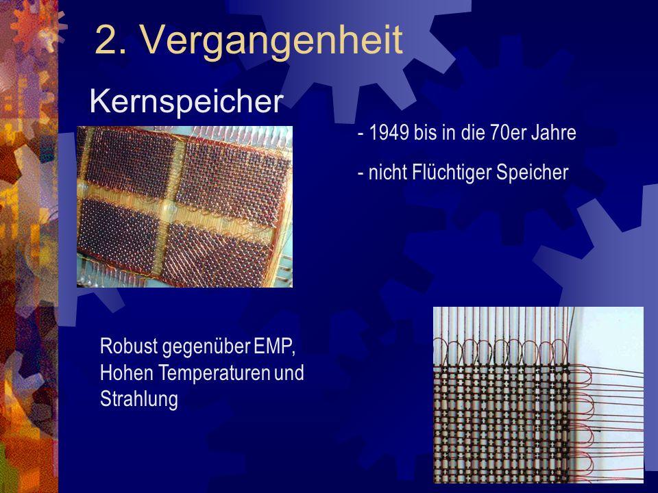2. Vergangenheit Kernspeicher - 1949 bis in die 70er Jahre