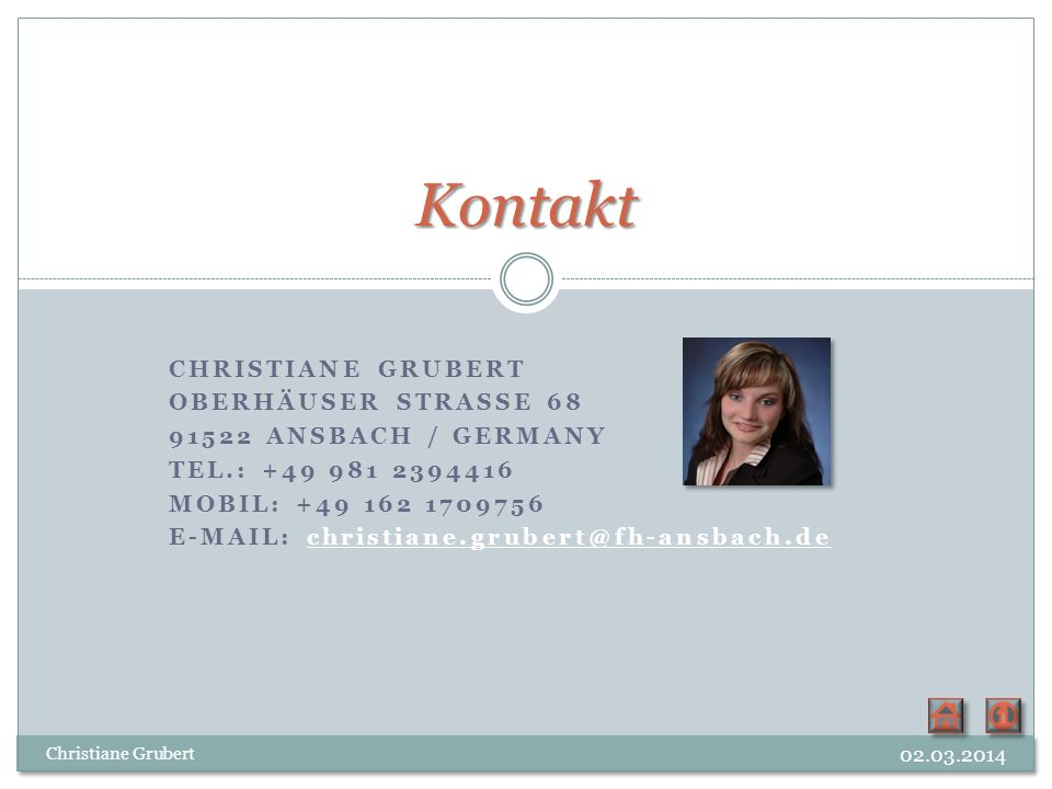 Kontakt Christiane Grubert Oberhäuser Strasse 68