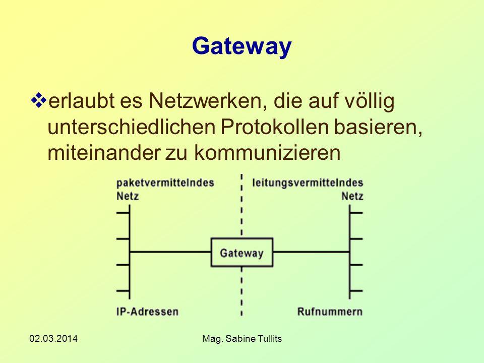 Gatewayerlaubt es Netzwerken, die auf völlig unterschiedlichen Protokollen basieren, miteinander zu kommunizieren.