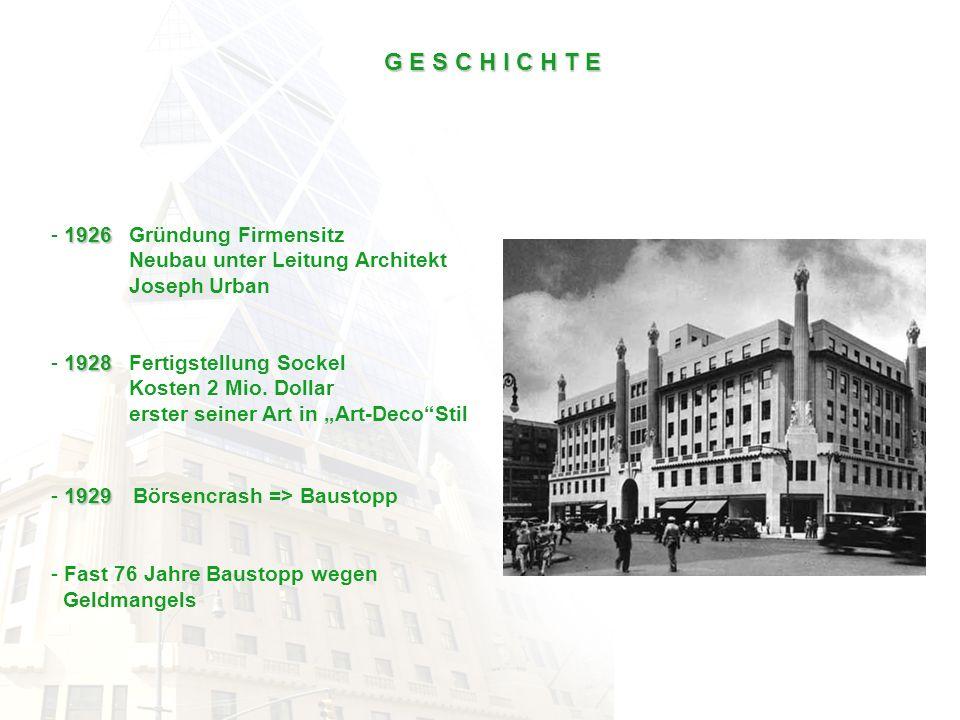 G E S C H I C H T E 1926 Gründung Firmensitz