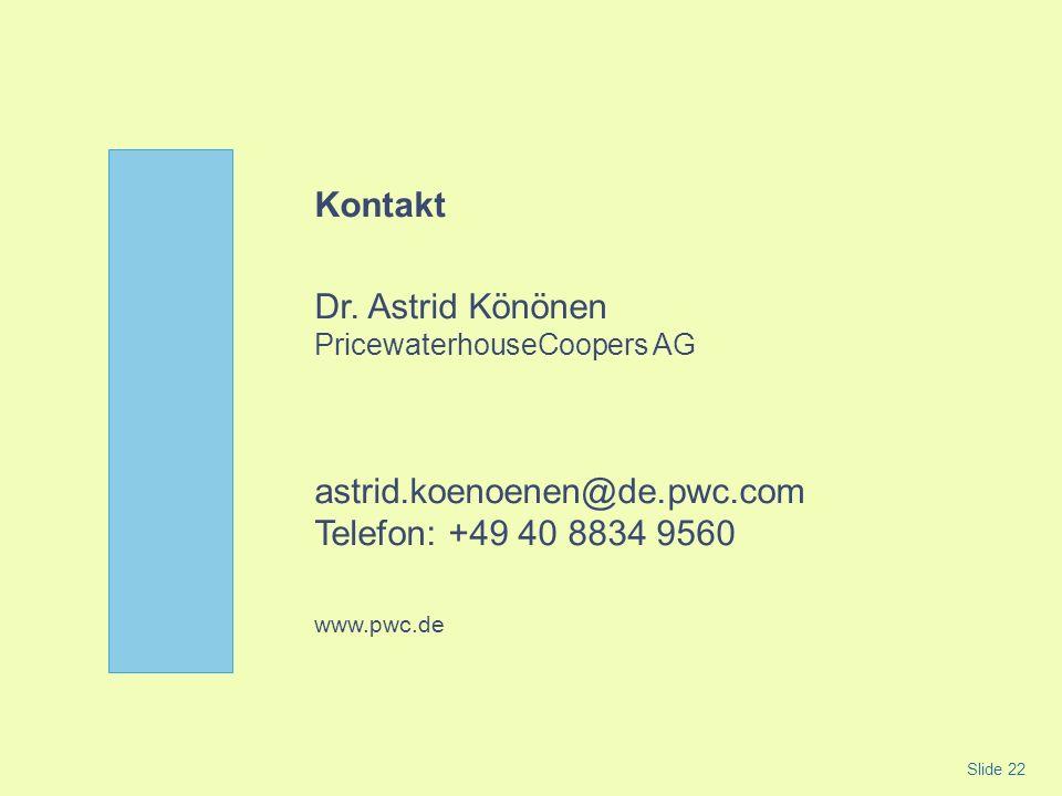 Dr. Astrid Könönen PricewaterhouseCoopers AG