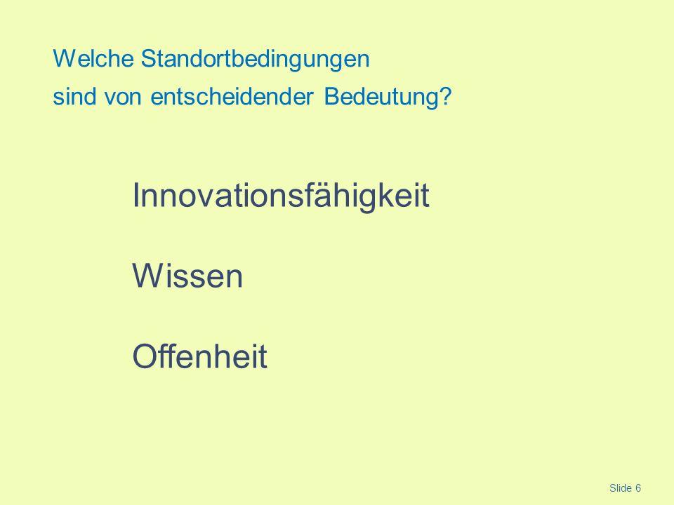 Innovationsfähigkeit Wissen Offenheit