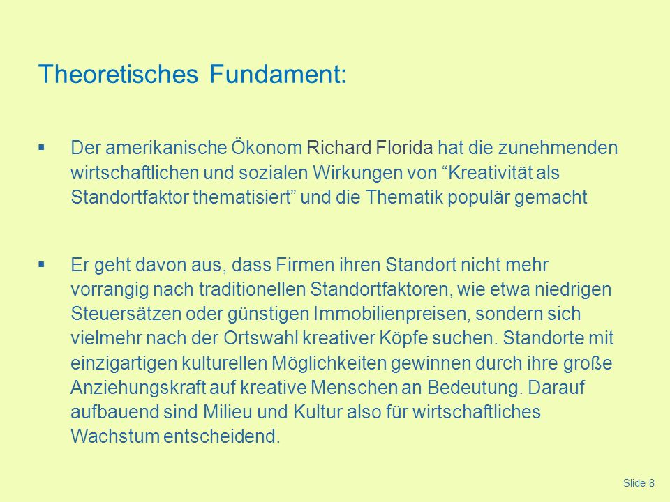 Theoretisches Fundament: