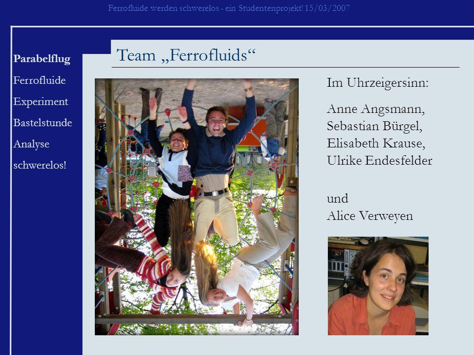 """Team """"Ferrofluids Im Uhrzeigersinn:"""