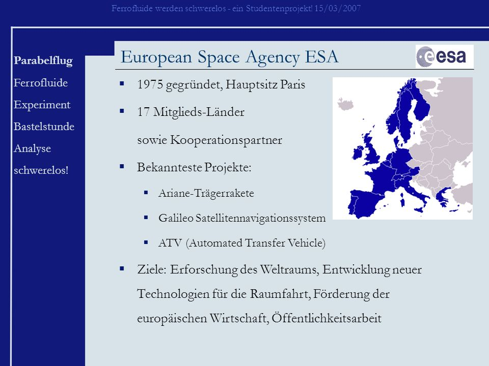 European Space Agency ESA