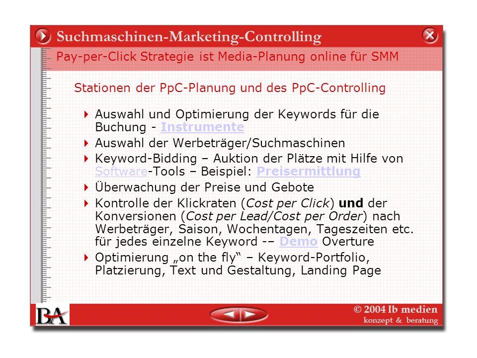 Suchmaschinen-Marketing-Controlling