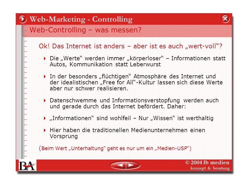 Web-Marketing - Controlling