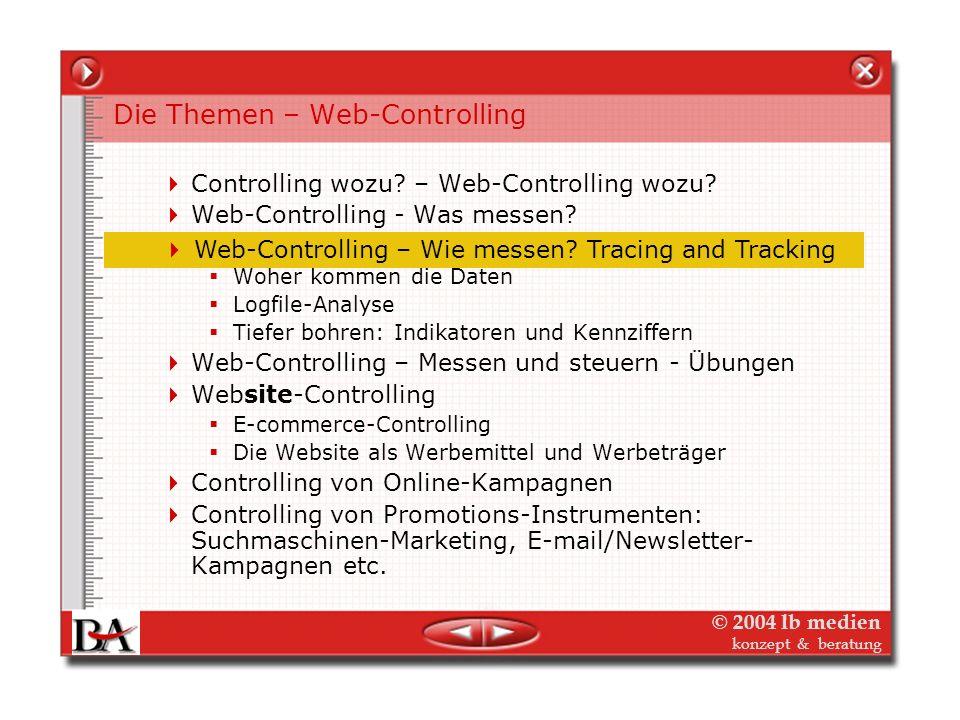 Die Themen – Web-Controlling