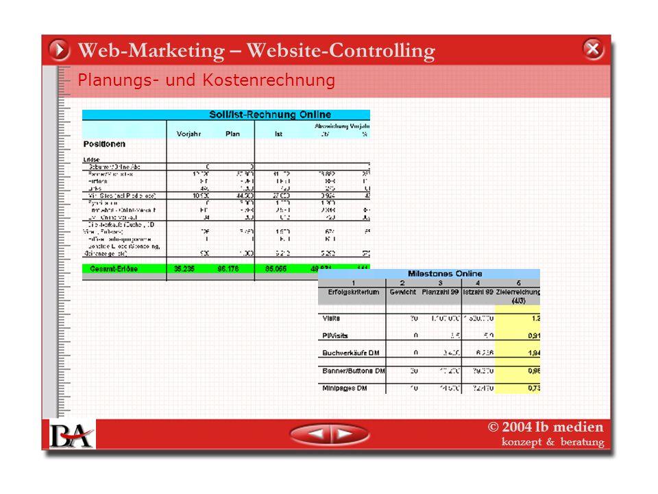 Web-Marketing – Website-Controlling