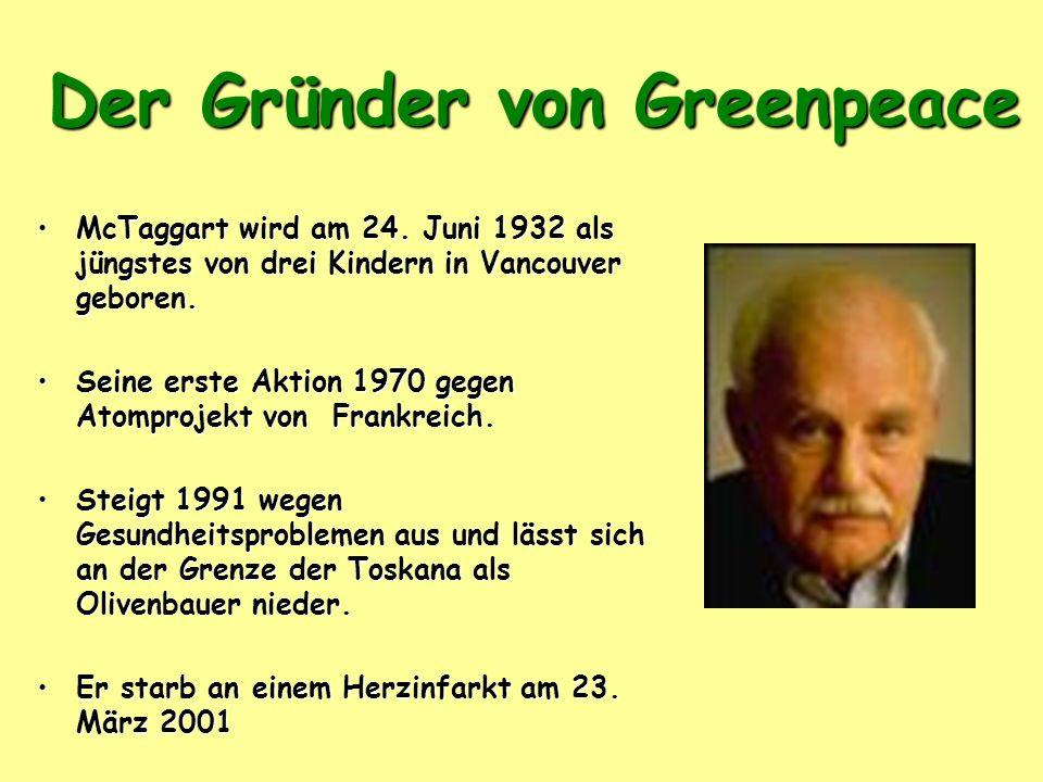 Der Gründer von Greenpeace