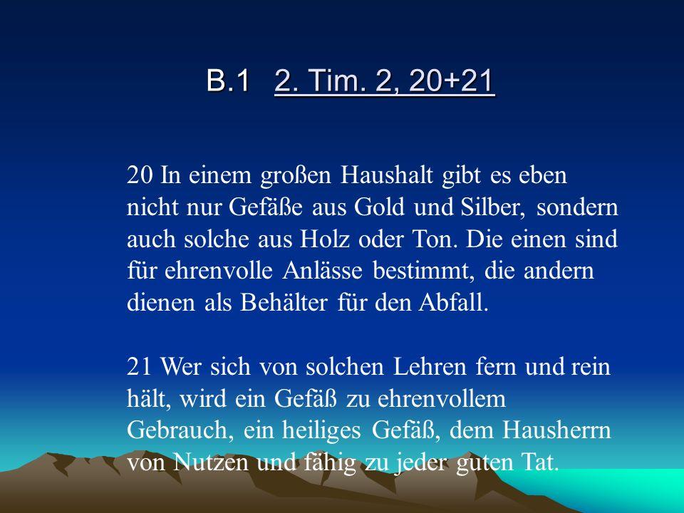 B.1 2. Tim. 2, 20+21