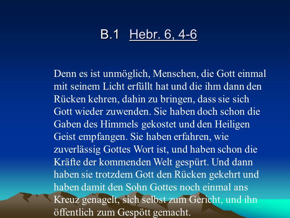 B.1 Hebr. 6, 4-6
